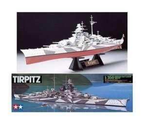 German Battleship Tirpitz in scale 1-350
