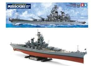 U.S. Battleship BB-63 Missouri in scale 1-350