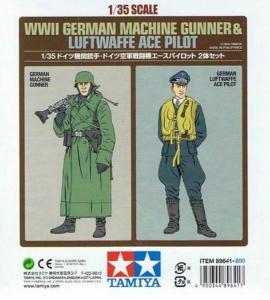 WWII German Machine Gunner and Luftwaffe Ace Piolot Tamiya 89641