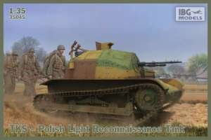 Polish Light Reconnaissance Tank model IBG in 1-35