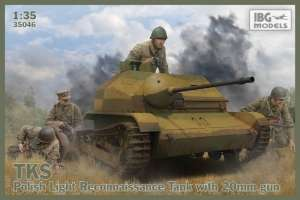 Polish Light Reconnaissance Tank TKS with NKM model IBG in 1-35