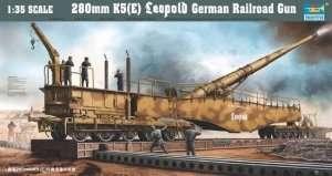 Rail road gun 280mm K5 (E) Leopold in scale 1:35