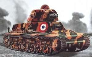 French tank model Hotchkiss H35/38 Trumpeter 00351
