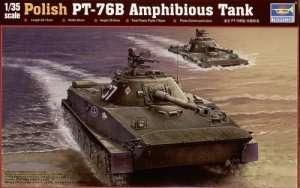Tank model PT76B in Polish Army