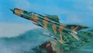 MiG-21MF Fishbed J in scale 1-32 Trumpeter 02218