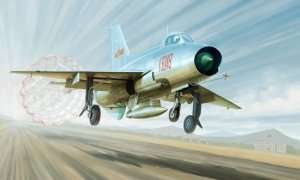 Model fighter J-7A in scale 1:48