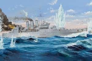 HMS Cornwall model Trumpeter 05353 in 1-350