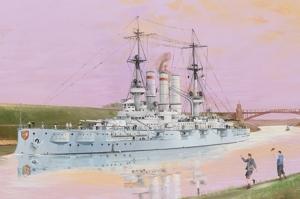 Schleswig-Holstein Battleship 1908 model Trumpeter 05355 in 1-350