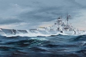 German Bismarck Battleship model Trumpeter 05358 in 1-350