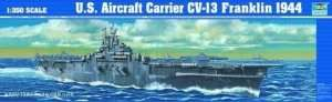 Model USS Aircraft Franklin CV-13 1944 in scale 1:350