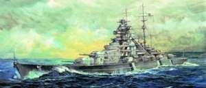 Germany Bismarck Battelship 1941 model Trumpeter in 1-700