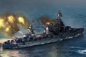 USS Texas BB-35 model Trumpeter 06712 in 1-700