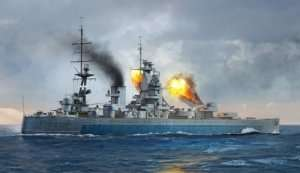 HMS Nelson 1944 model Trumpeter in scale 1-700
