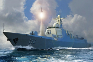PLA Navy Type 052D Destroyer model Trumpeter 06732 in 1-700