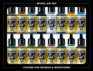Model Air - USAAF WWII colors 16 x 17ml - Vallejo 71185
