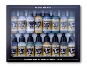 Model Air - WWII British RAF and FAA colors 16 x 17ml - Vallejo 71189