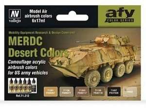 AFV Color Series - MERDC Desert Colors - 6x17ml