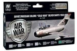 Set - Soviet/Russian colors Cold War silver darts 1950-80