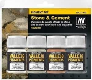 Vallejo 73192 Kamień i cement - zestaw 4 pigmentów