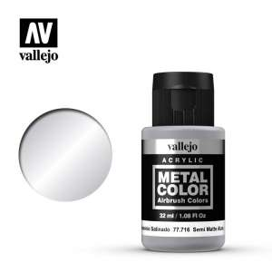 Semi Matt Aluminium 32ml Acrylic paint Metal Color Vallejo 77716