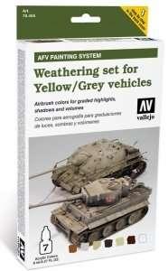 Weathering set for Yellow / Grey vehicles 6x8ml + 1x10ml