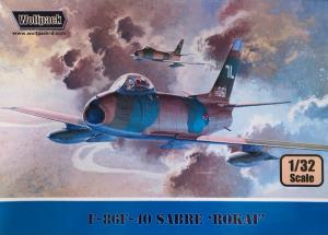 F-86F-40 Sabre Rokaf model Wolfpack WP13201 in 1-32
