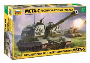152mm Self-Propelled Howitzer MSTA-S model Zvezda 3630 in 1-35
