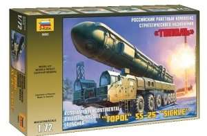 Ballistic Missile Launcher Topol SS-25 Sickle in scale 1-35