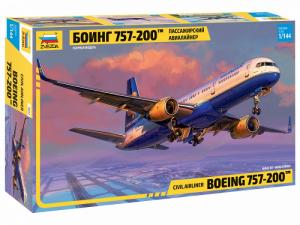 Civil Airliner Boeing 757-200 model Zvezda 7032 in 1-144