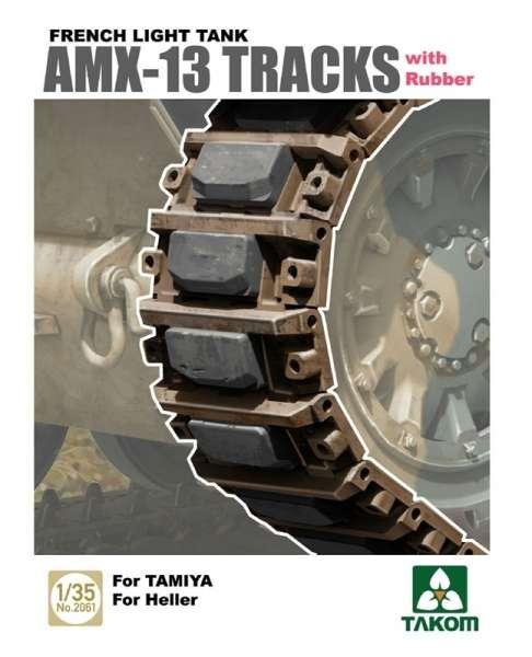 Gąsienice do lekkiego francuskiego czołgu AMX-13, plastikowe gąsienice Takom 2061 w skali 1:35.-image_Takom_2061_1
