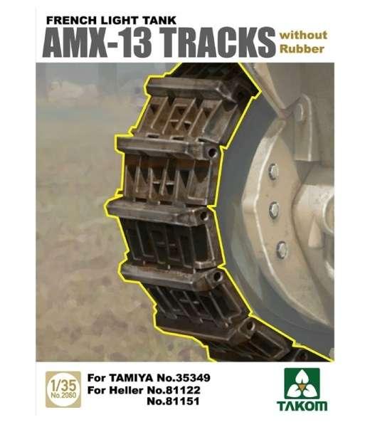 Gąsienice do francuskiego lekkiego czołgu AMX-13, plastikowe gąsienice Takom 2060 w skali 1:35.-image_Takom_2060_1