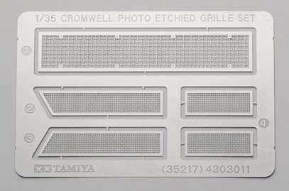 Elementy fototrawione do modelu brytyjskiego czołgu Cromwell Mk.IV, Tamiya 35222-image_Tamiya_35222_1