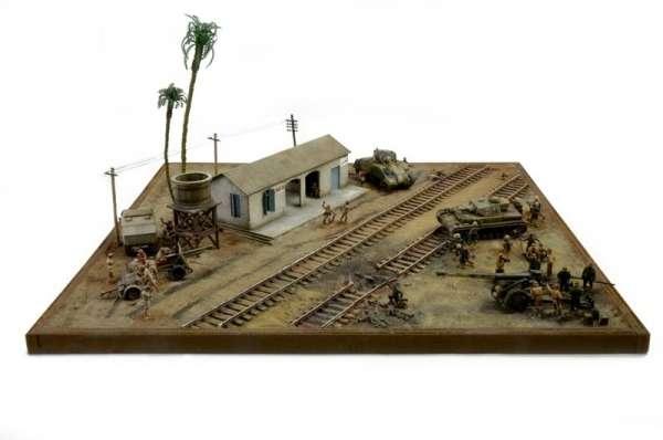 Battle Set El ALamein The Railway Station Italeri 6181 zestaw modelarski do sklejania image_1_ita6181_c-image_Italeri_6181_3