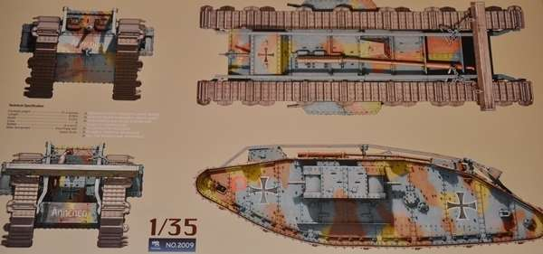 British WWI Heavy battle tank Mark IV Female model_do_sklejania_skala_1_35_takom_2009_image_6-image_Takom_2009_8