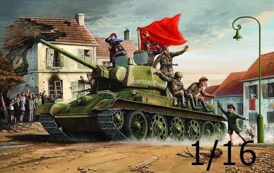 Radziecki czołg średni T-34/76 (1943), plastikowy model do sklejania Trumpeter 00903 w skali 1:16.-image_Trumpeter_00903_1