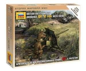 Zvezda 6169 British QF 2pdr AT Gun w/ Crew