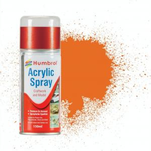018 Spray akrylowy Orange Gloss 150ml Humbrol AD6018