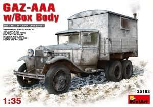 Model ciężarówki GAZ-AAA z nadbudówką MiniArt 35183