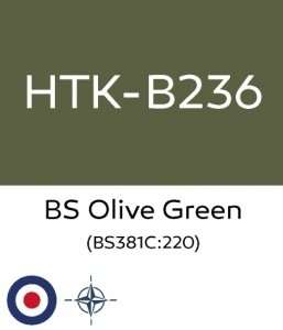 Hataka B236 - BS Olive Green - farba akrylowa 10ml