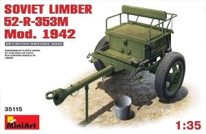 Model wózka artylerysjkiego 52-R-353M mod. 1942 MiniArt 35115