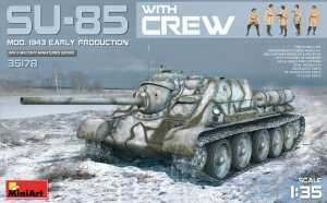 MiniArt 35178 SU-85 mod. 1943 Early Production with crew
