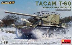 Model niszczyciela czołgów Tacam T-60 z wnętrzem MiniArt 35230