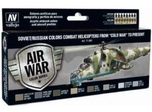 Vallejo 71601 Zestaw farb Soviet/Russian colors combat Helicopters