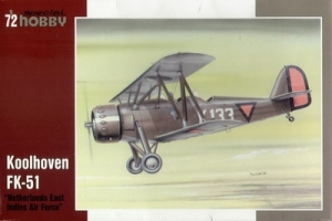 Model holenderskiego samolotu Koolhoven FK-51 Netherlands East India Air Force Special Hobby 72175
