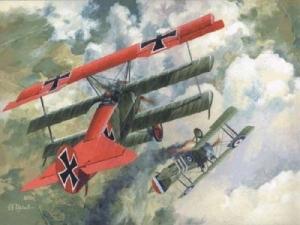 3 płatowy myśliwiec Fokker Dr.I Roden 010
