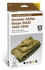 Vallejo 78409 Zestaw Model Air - German Afrika Korps (DAK) 1941/42 6x8ml