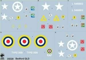 35D20 Polska kalkomania - Bedford QLD w Polskich Siłach Zbrojnych -  1:35
