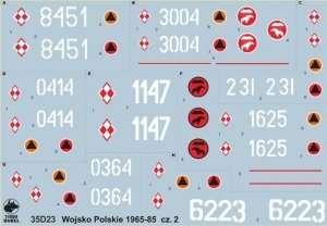 35D23 Polska kalkomania - Wojsko Polskie 1965-85 cz.2 - skala 1/35