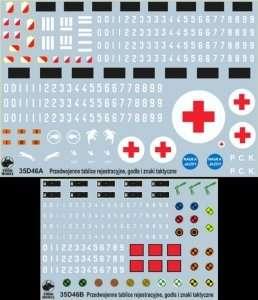 35D46 Polska kalkomania - Przedwojenne tablice rejestracyjne WP - skala 1-35