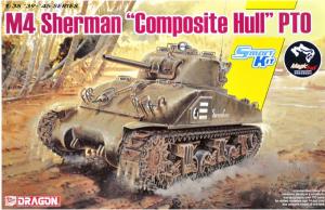 Czołg Sherman M4 Sherman Composite Hull PTO Dragon 6740